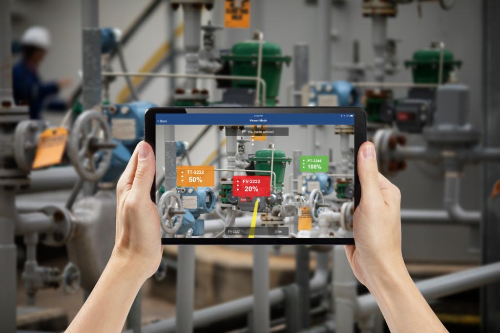 Anlagenwartung mit AR-Technologie für Plantweb Optics