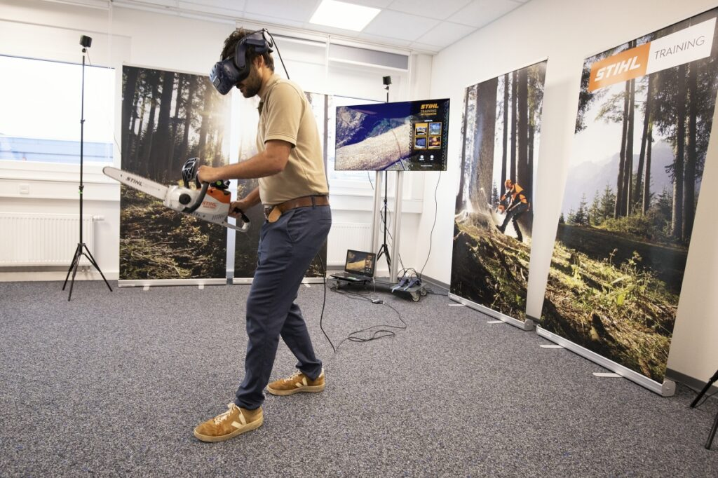 virtuelles Training mit Rettungssägen-Simulator