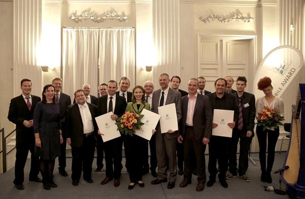 In der Münchner Residenz wurden die Gewinner des Smart Mobile Award 2013 ausgezeichnet.