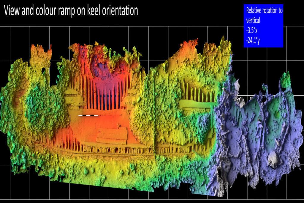 3D-Scan des Schiffswracks der Melckmeyt