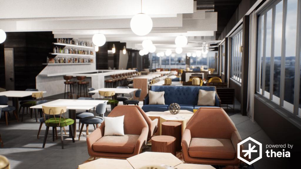 Hoteldesign mit VR-Lösung von Theia Interactive unter Verwendung von Unreal Engine