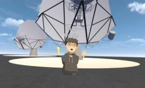 Virtueller Konferenzraum für Design und Bau von Radioteleskopen